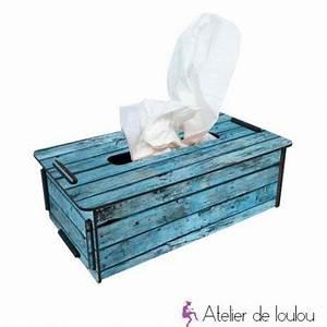 Boite Mouchoir Bois : boite mouchoir bois recycl atelier de loulou ~ Teatrodelosmanantiales.com Idées de Décoration