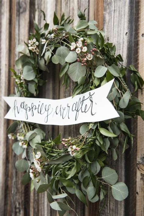 top  greenery diy wedding wreath ideas worth stealing