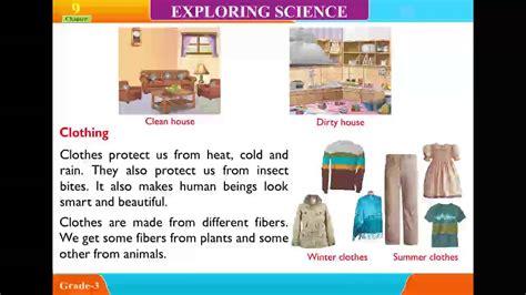 explore science class unit  housing  clothing