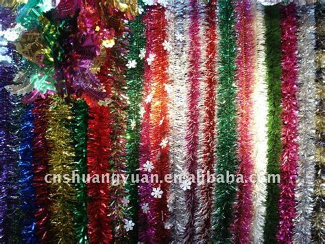 promotional christmas tinsel flower garland buy