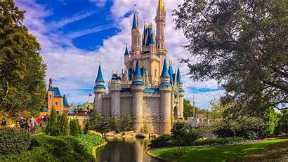 Disneyland Wallpapers Castle Cinderella Disney 4k Background
