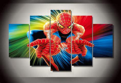 panels spiderman marvel group artwork multi canvas art