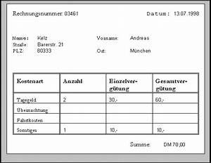 Abrechnung Fahrtkosten Formular : relationale datenbanken kapitel 1 ~ Themetempest.com Abrechnung