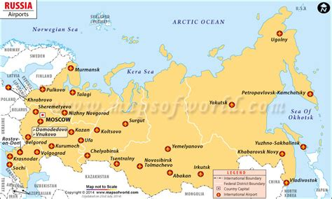 Moscow Russia Zip Code by Airports In Russia Russia Airports Map