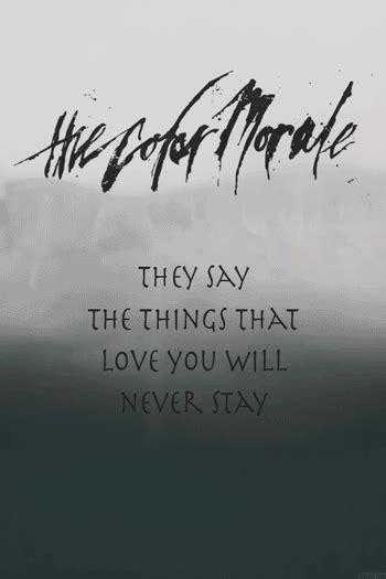 color morale the color morale lyrics