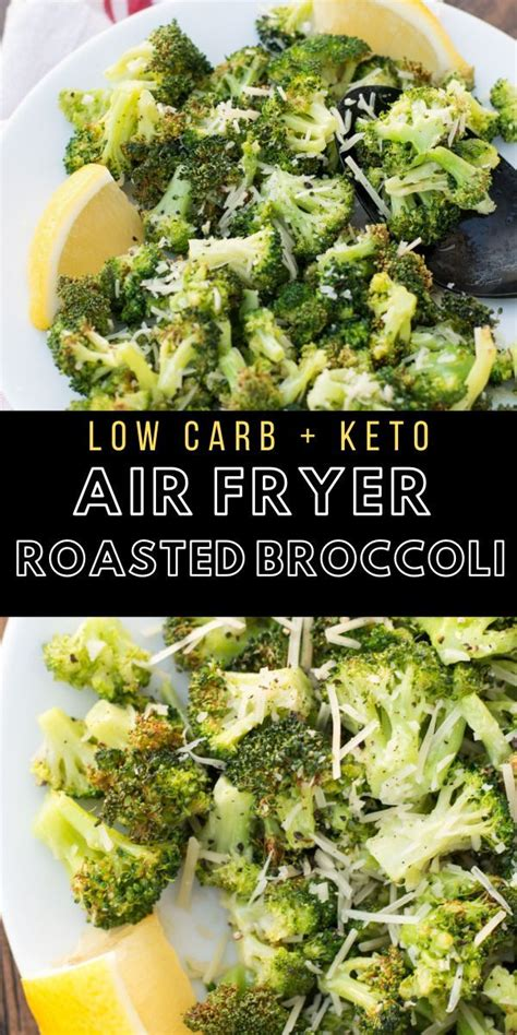 broccoli air crispy keto fried roasted fryer carb low tender perfectly recipes