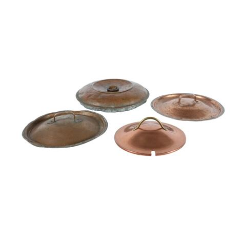 antique copper lids set   vintique