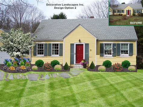 Landscaping For Ranch Style Homes by Front Yard Landscape Design Ideas Ma Landscape Makeover