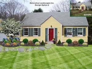 Simple front garden design ideas landscaping ideas for for Landscape design ideas front of house