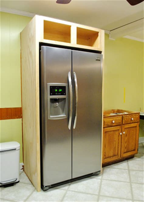 how to make built in cabinets how to build a framing cabinet for your fridge