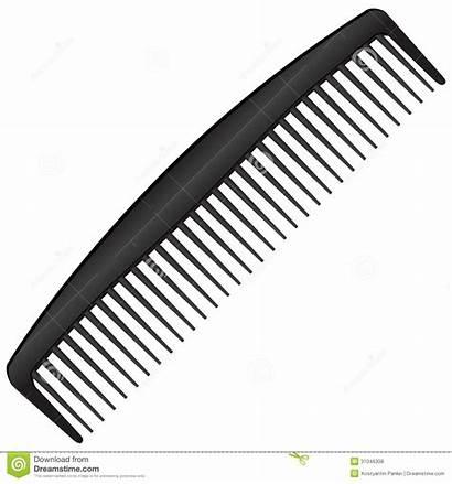 Comb Clipart Vector Illustration Teeth Few Blackcomb