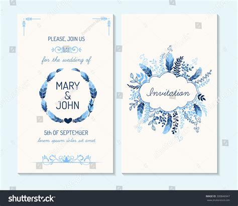 wedding invitation   card save stock vector