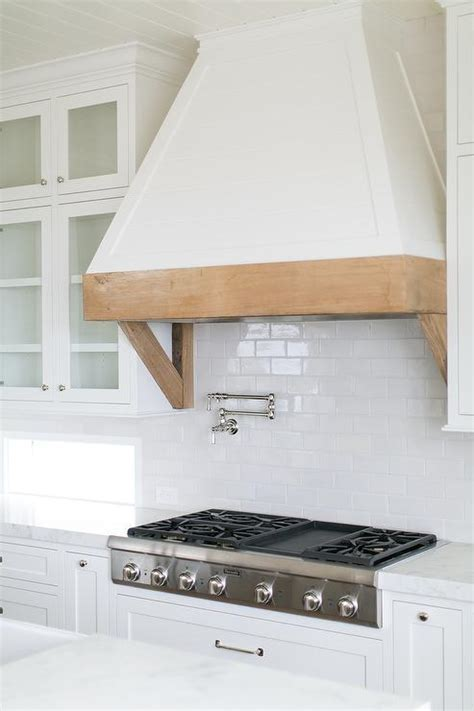 Rustic Wood Kitchen Hood Trim Design Ideas