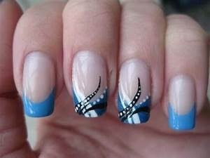 Wedding Nail Designs - Nail Art: Abstract Baby Blue ...