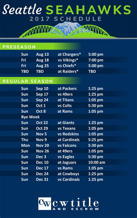 seattle seahawks  schedule leslie fox