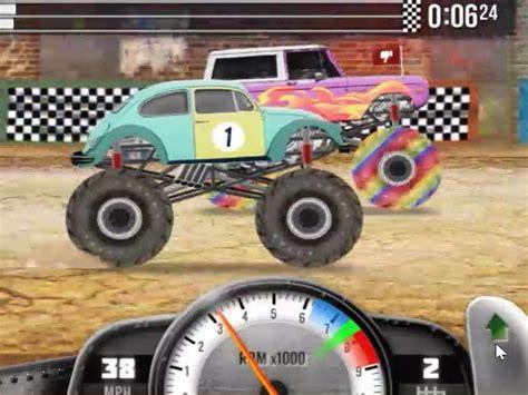 monster trucks racing videos play racing monster trucks for free at pomu com