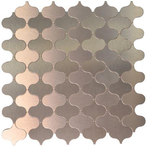 10 sheets peel stick aluminum metal mosaic tile bronze