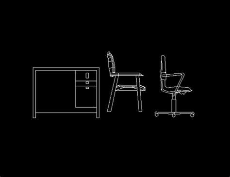 computer desk  chair elevation cad autocad blocks