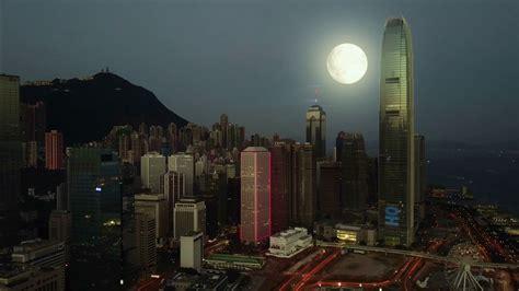 aerial view  hong kong city  night time traffic  hong kong  night mon light neon