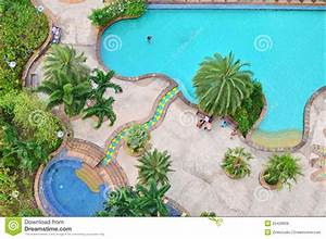 Top view of swimming pool stock image. Image of leisure ...