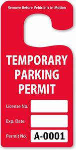 parking hang tags design online at myparkingpermit With hanging parking pass template