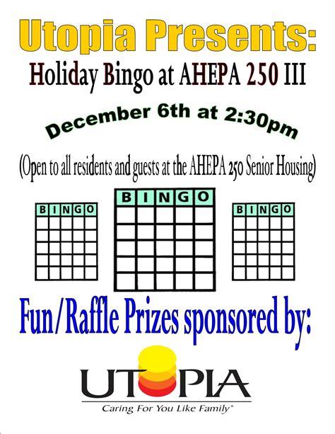 Holiday Bingo Event At Ahepa Senior Housing  Groton, Ct