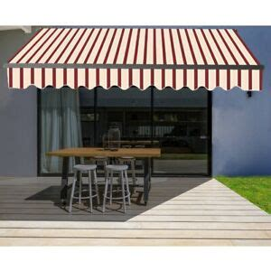 aleko motorized retractable home patio canopy awning  multi red  ebay