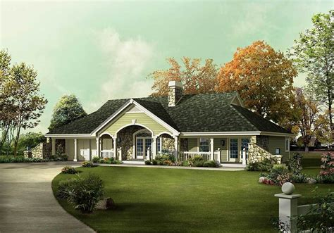 Unique Country Ranch Home Plan