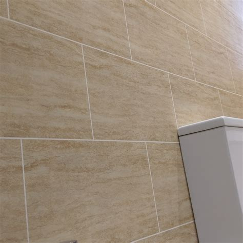 Travertine Beige Tile Effect Wall Cladding Panels