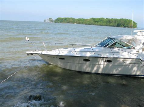Lake Erie Boat Accident by Middle Bass Island Boat Beached At Burgundy Bay June 1