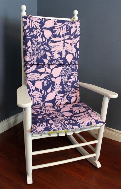 rocking chair cushion purple pink lime floral