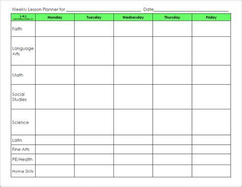 free preschool lesson plan template sanjonmotel