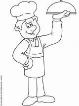 Chef Coloring Printable Helpers öncesi Okul Colouring Comer Boyama Crafts Sayfası Meslekler Preschoolers Aşçı Plato Buen Del Sheets Para Colorir sketch template