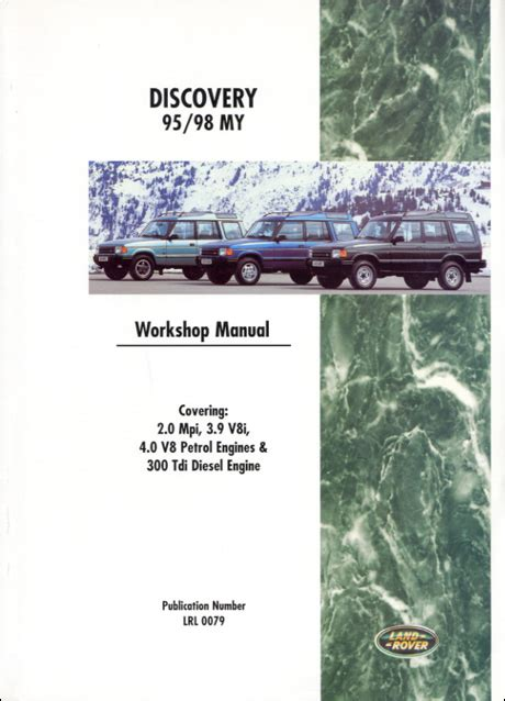 car engine repair manual 1998 land rover discovery windshield wipe control front cover land rover land rover repair manual discovery 1995 1998 bentley publishers