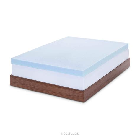 4 memory foam mattress topper lucid 4 inch gel memory foam mattress topper