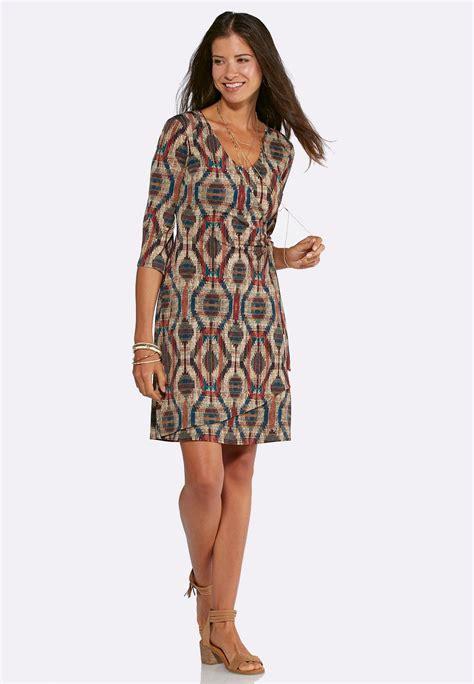 ea7e29c3700 1050 x 1516 www.catofashions.com. Plus Size Bell Sleeve Faux Wrap Dress  Plus Sizes ...