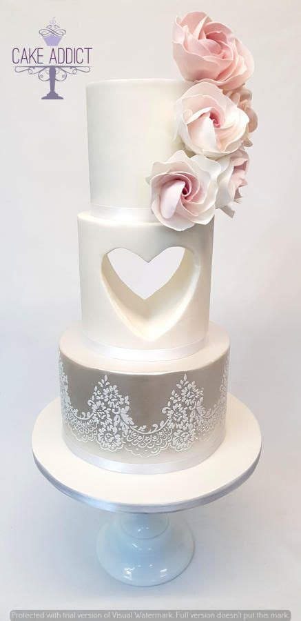 wedding cake  heart wedding cakes wedding