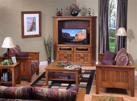 jakes amish furniture  mission living room