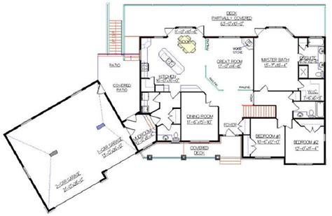 bungalow plan   angled garage   designs floor plans ranch garage house plans