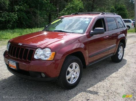 cherokee jeep 2008 2008 red rock crystal pearl jeep grand cherokee laredo 4x4