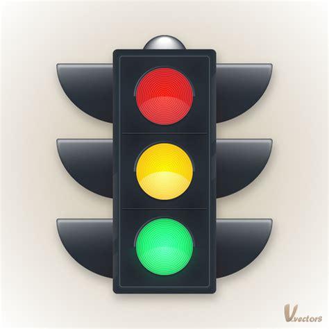 create a traffic light illustration vforvectors