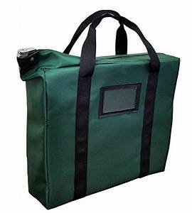 briefcase style locking document bag forest green With lockable document bag