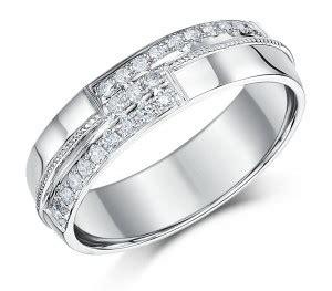 mm mens  carat white gold diamond set wedding ring band