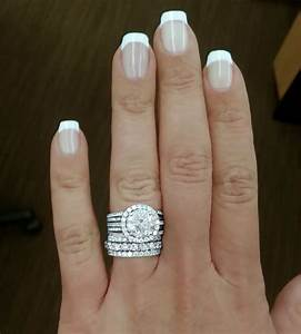 stacked wedding bands with engagement ring pictures to pin With stacked wedding rings trend