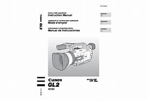Canon Gl2 Minidv Digital Camcorder With Lens Manual Pdf