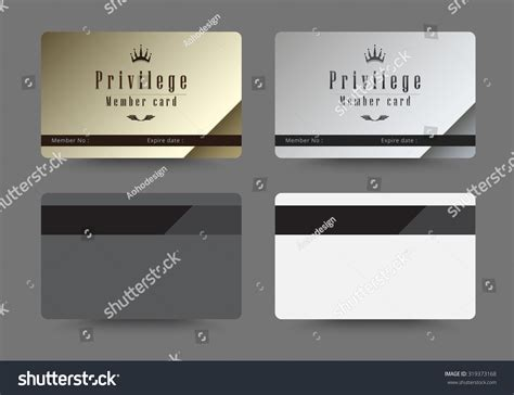 Gold Silver Privilege Card Member Template Stock Vector Free Business Card Templates Adobe Lion File No 480 Font Size For Zebra Template Outlook Indesign Mac Decorative Desktop Holders