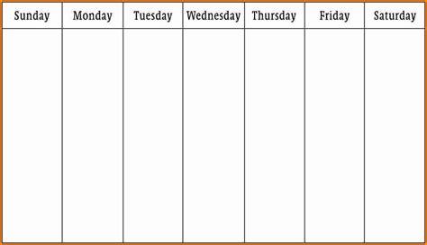 Week Calendar Template 6 Week Schedule Template Authorization Letter