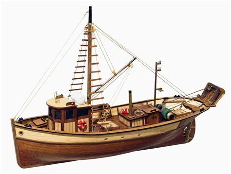 Wooden Model Fishing Boat Kits by Occre Palamos Fishing Model Boat Display Kit 12000 Hobbies