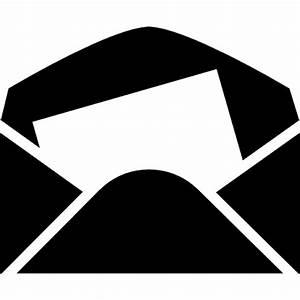 Envelope in black paper with a white letter sheet inside for Black letter envelopes