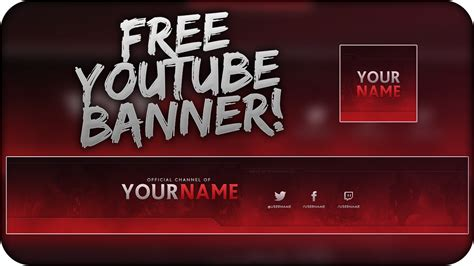 Descargar Youtube Banner Template by Free Youtube Banner Template Psd Direct Download Link